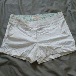 J Crew White Chino Shorts Sz 2